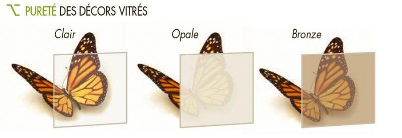 exemple des différentes teintes de vitrage