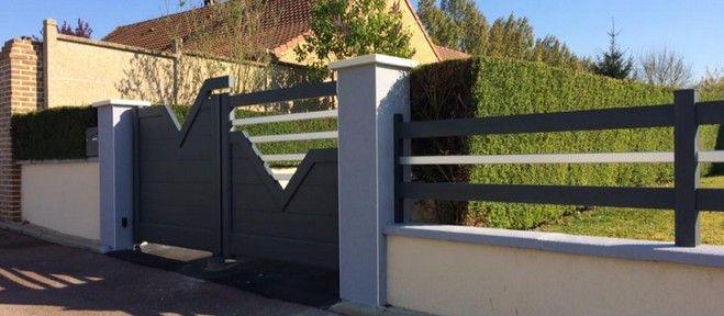 cloture alu horizontale art et portails moderne