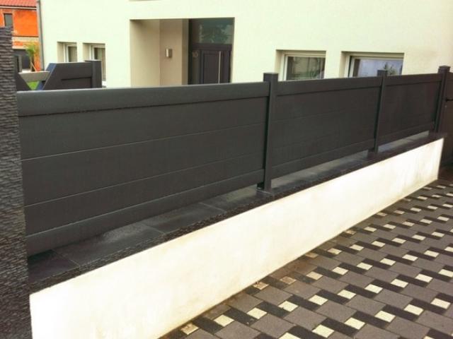 cloture alu pleine ivd art et portails moderne design