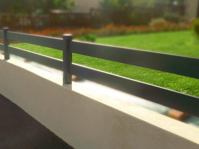 clôture alu horizontale ranch moderne