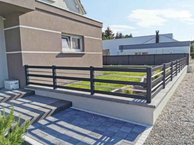 clôture design en alu moderne design