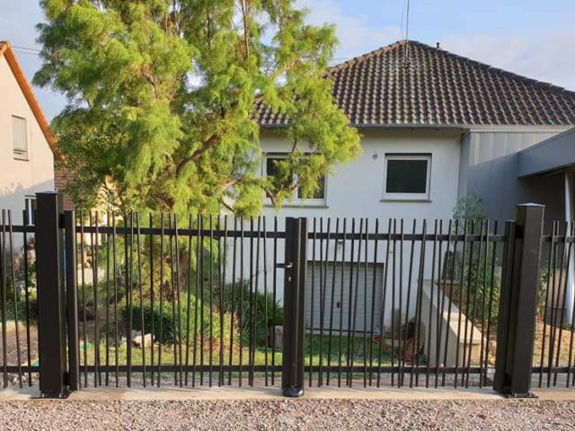 clôture verticale art et portails Alsace 1