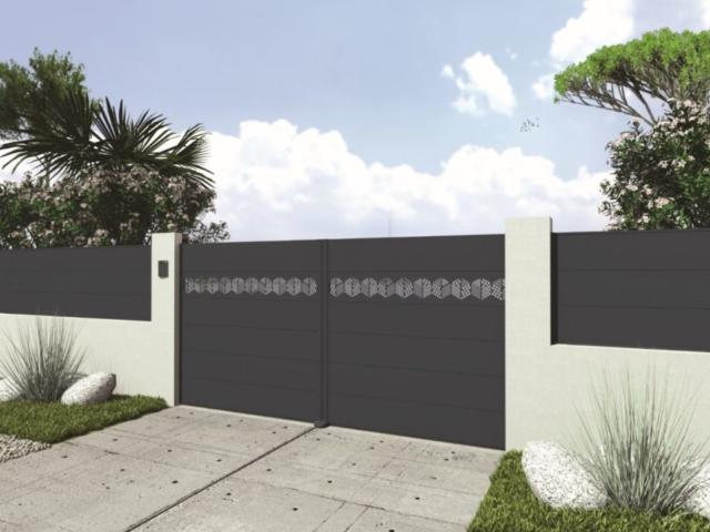 design-Portail aluminium alsace